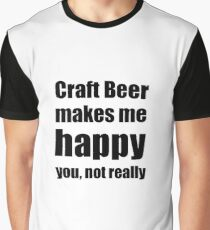 Camiseta gráfica Craft Beer Lover Funny Gift for Friend Alcohol Brewer
