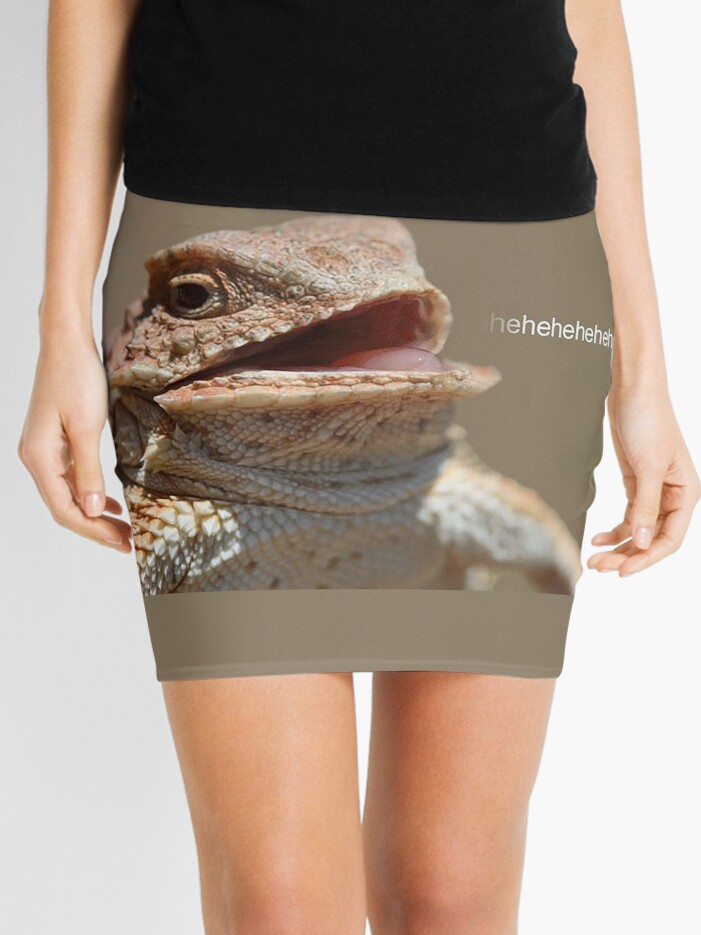 Laughing Lizard Meme Mini Skirt By Flashmanbiscuit Redbubble