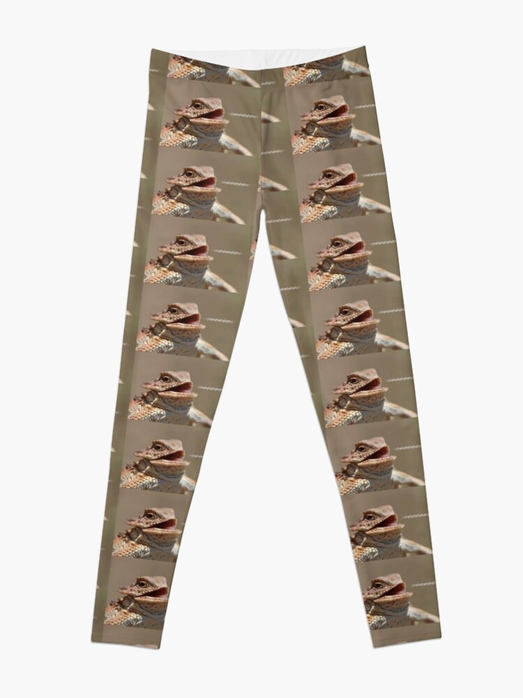 Laughing Lizard Meme Leggings By Flashmanbiscuit Redbubble