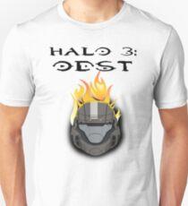Halo 3: ODST Orange Flaming Helmet Unisex T-Shirt