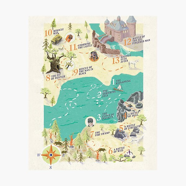 Princess Bride Discovery Map Photographic Print