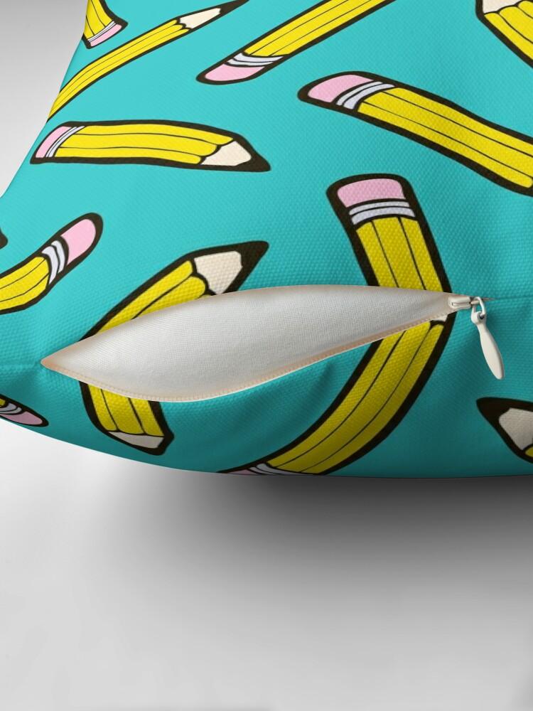 Alternate view of Pencil Power Blue Pattern Floor Pillow