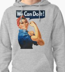 We Can Do It, Female Empowerment Poster, Feminism Artwork, Tshirts, Posters, Prints, Bags, Women, Men, Kids Pullover Hoodie