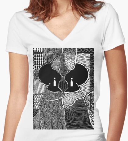 Embracing Myself Women's Fitted V-Neck T-Shirt