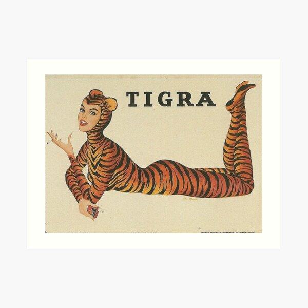 Tigra    Tigra cigarettes  Art Print