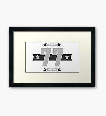 B-day 77 (Light&Darkgrey) Framed Print