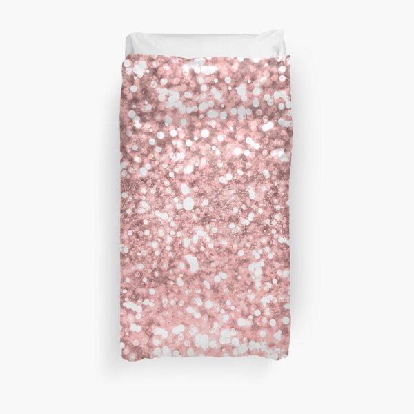 Rose Gold Pink Sparkle Duvet Cover