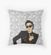 White Goyard x Kris Jenner Throw Pillow