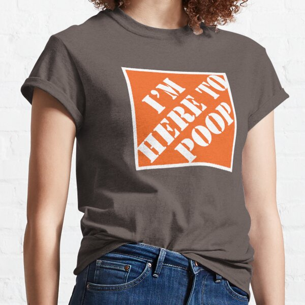 Here To Poop Classic T-Shirt