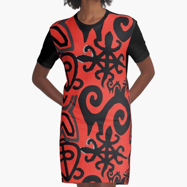 Adinka Symbol inspired The Power of Love Graphic T-Shirt Dress
