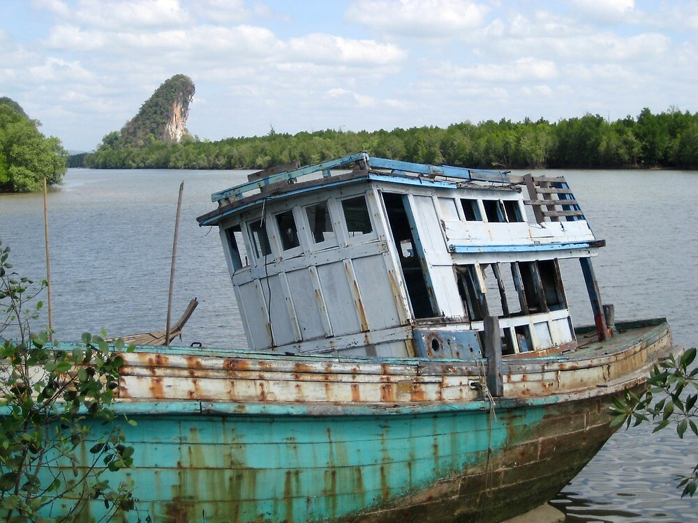 Shipwreck - Thailand  by Ginelle Cooke