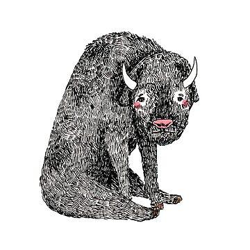 Hand drawn graphic bull  by nastybo
