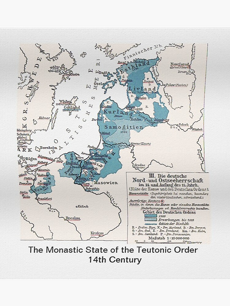 Map.. Monastic State of the Teutonic Order | Poster on usa states map, hungary states map, red states map, un states map, so states map, union states map, best states map, hot states map, german states map,