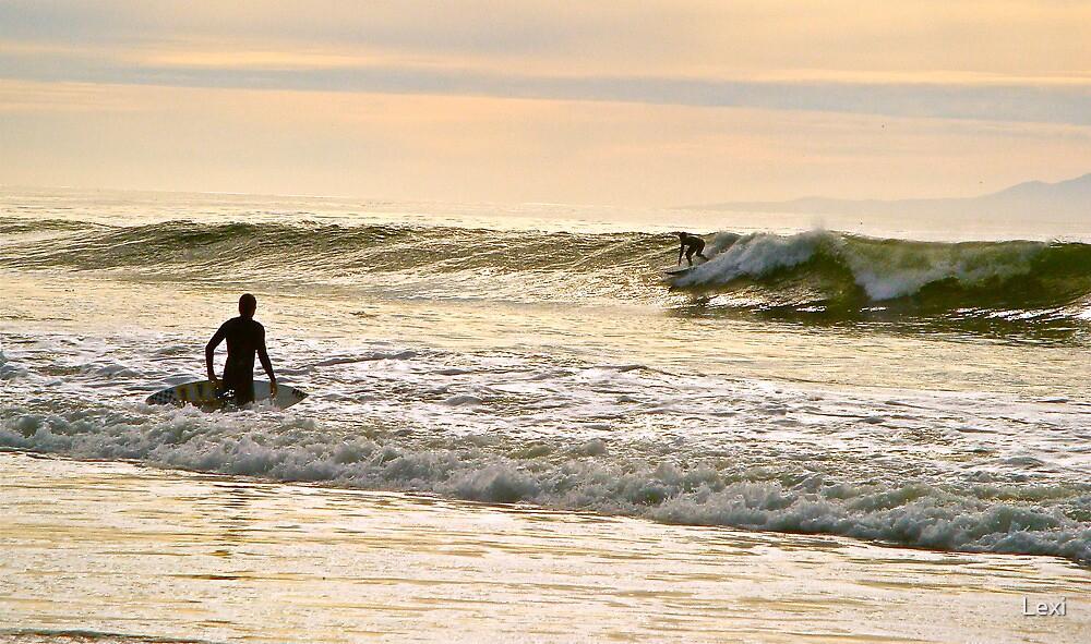Winter Surfing I - Hendry's Beach Santa Barbara, Ca by Lexi