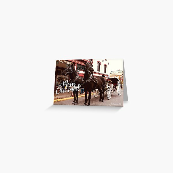 Merry Christmas - Carriage Ride - Card Greeting Card