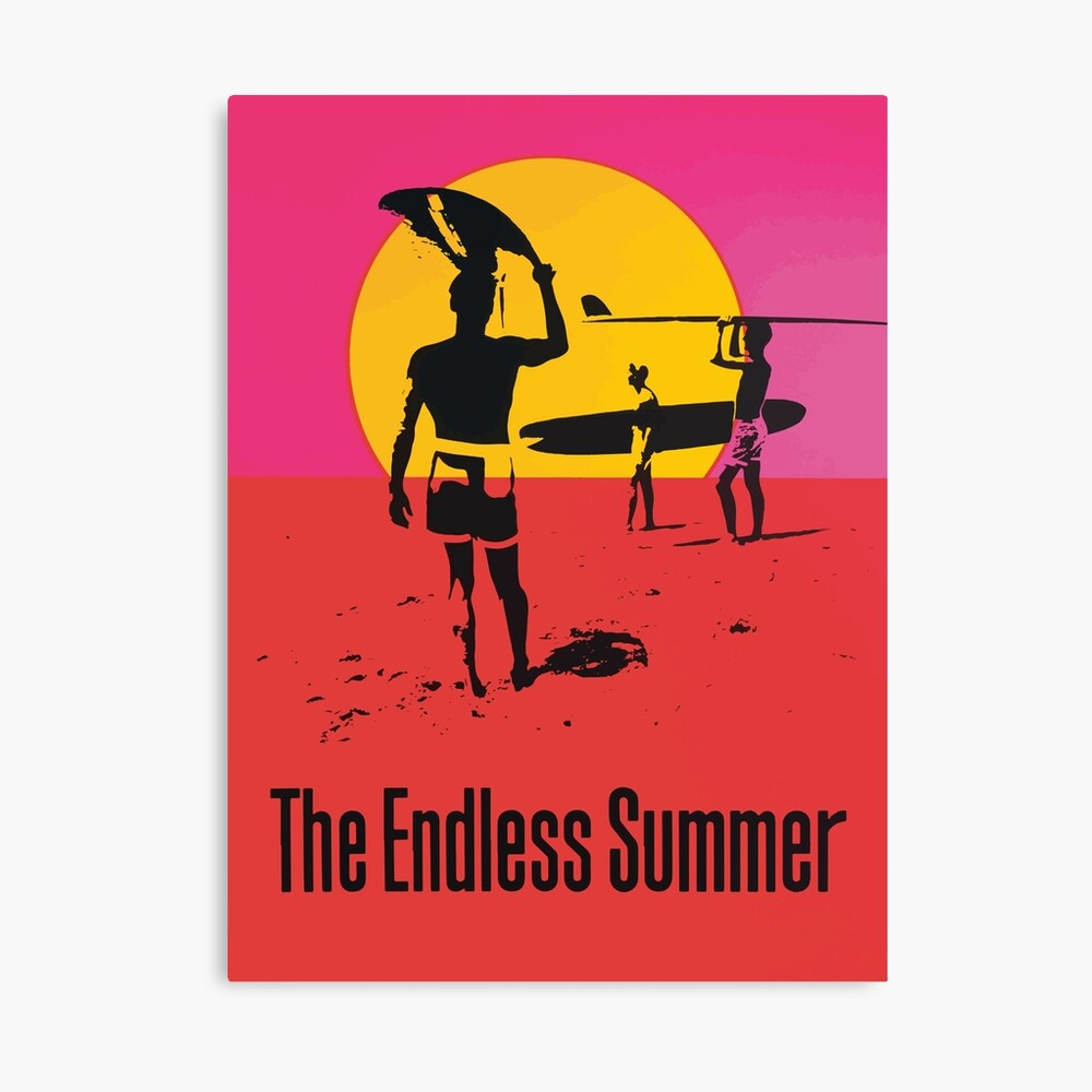 Endless Summer, 1966 Surf Sport Documentary Poster, Artwork, Prints, Posters, Tshirts, Men, Women, Kids Canvas Print