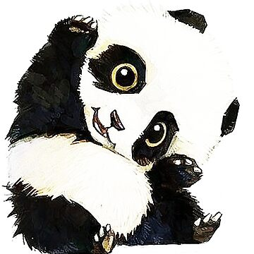 panda drawing by autrouvetout
