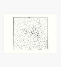 John Snow's Cholera Map Art Print