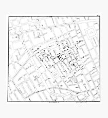 John Snow's Cholera Map Photographic Print