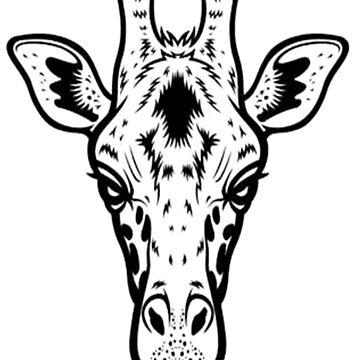 giraffe by autrouvetout