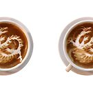 Coffee - Chinese Dragon coffee art by Crowden
