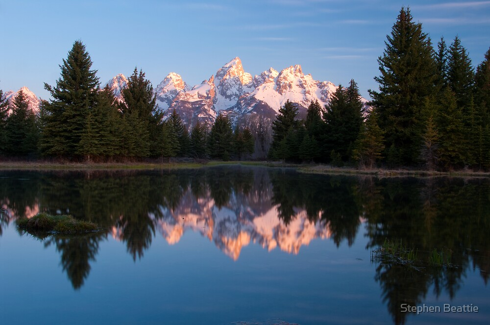 Teton Mountains' Dawn - Schwabacher Landing by Stephen Beattie