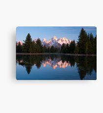 Teton Mountains' Dawn - Schwabacher Landing Canvas Print