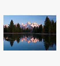 Teton Mountains' Dawn - Schwabacher Landing Photographic Print