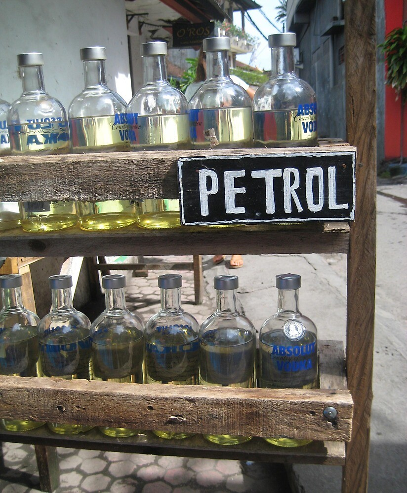 Petrol for Sale - Kuta, Bali by Ginelle Cooke