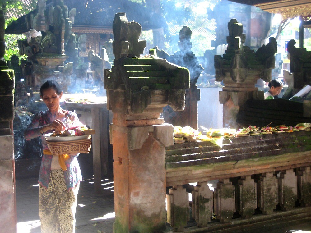 Prayer - Bali, Indo by Ginelle Cooke