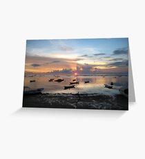 Balinese Sunset - Bali, Indo Greeting Card