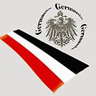 Eagle of 1888 German Empire with Old Flag by edsimoneit