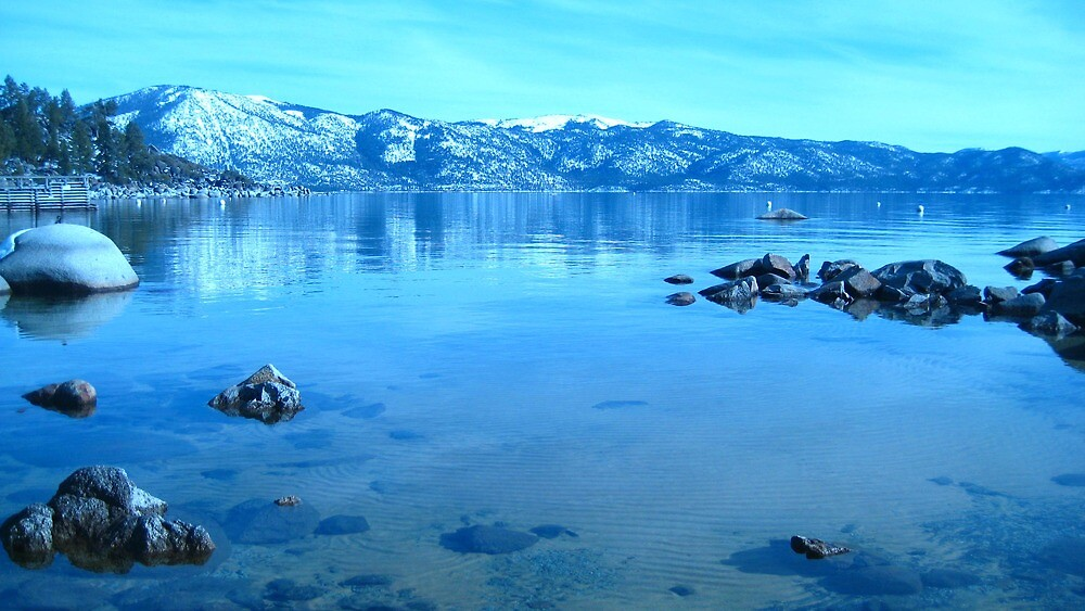Blue Glass - North Lake Tahoe by Ginelle Cooke