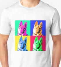 German Shepherd Pop Art T-Shirt