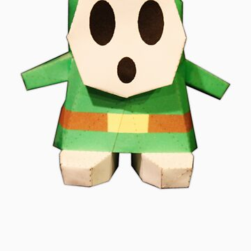 Green Paper ShyGuy by Hunniebee