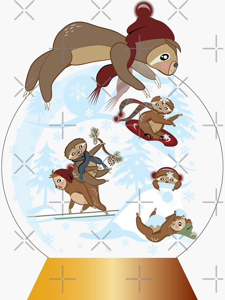 Sloth on a Snow Globe by CreativeContour
