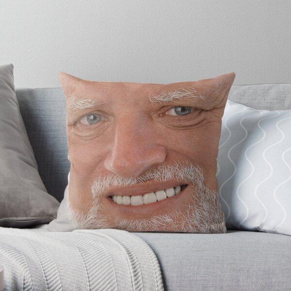 Hide the Pain Harold Meme - Sad Guy Throw Pillow