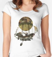 A tour in the Clouds Women's Fitted Scoop T-Shirt