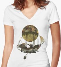 A tour in the Clouds Women's Fitted V-Neck T-Shirt