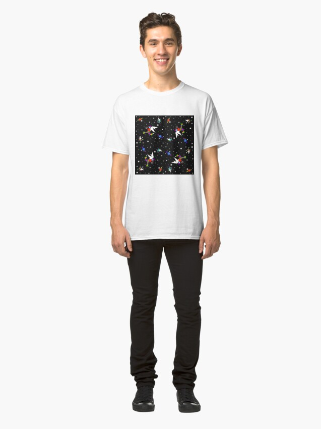 Alternate view of Angel Dudes Starry Night - black Classic T-Shirt