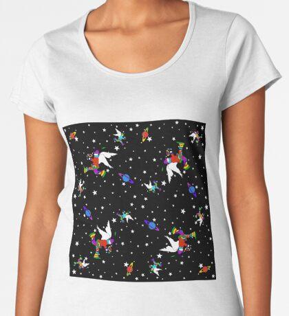 Angel Dudes Starry Night - black Women's Premium T-Shirt