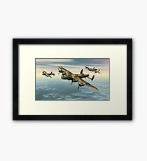 A Flight of Avro Lancaster bombers Framed Print