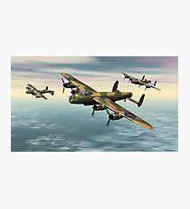 A Flight of Avro Lancaster bombers Photographic Print