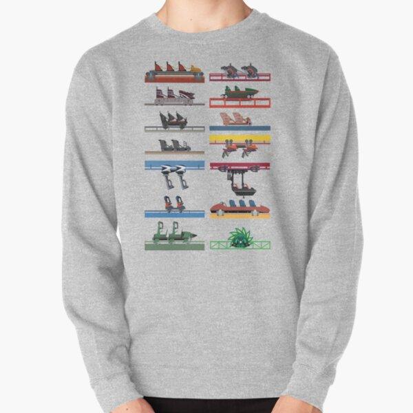 Six Flags Magic Mountain Coaster Cars Design Pullover Sweatshirt