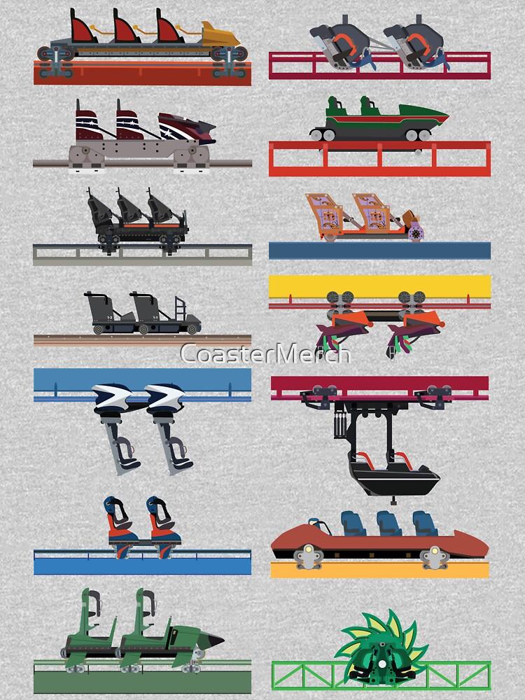 Six Flags Magic Mountain Coaster Cars Design by CoasterMerch