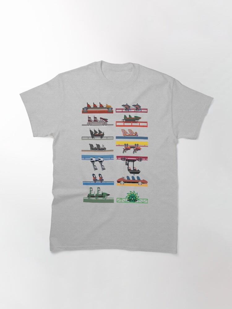 Alternate view of Six Flags Magic Mountain Coaster Cars Design Classic T-Shirt