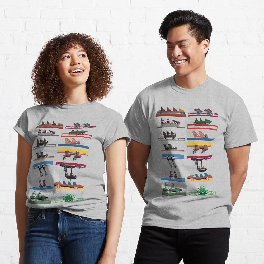 Six Flags Magic Mountain Coaster Cars Design Classic T-Shirt