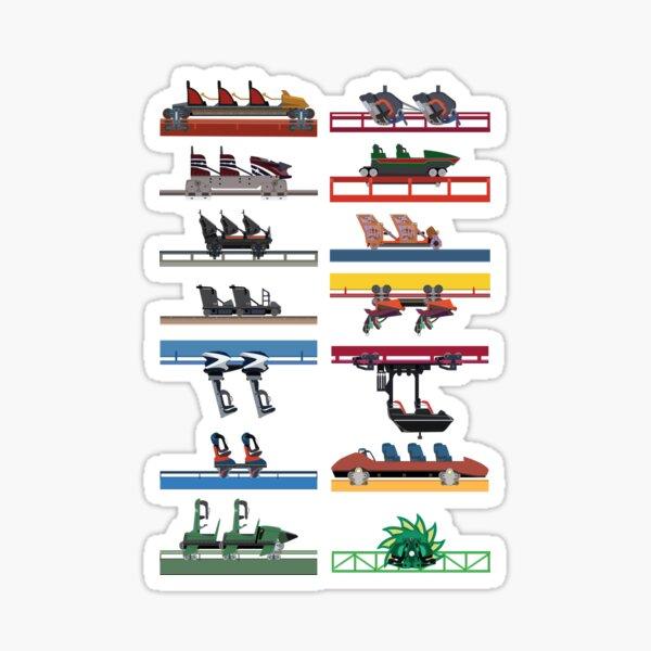 Six Flags Magic Mountain Coaster Cars Design Sticker