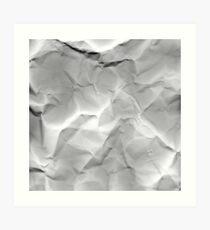 crumpled Art Print