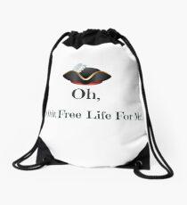 A Debt Free Life For Me Drawstring Bag